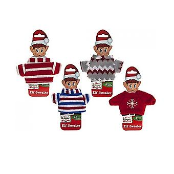 """Knitted Sweater For Your Christmas Elf - Fits Standard size 12"""" VIP Elf"""
