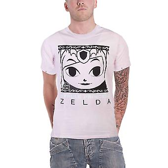 Zelda T shirt Hyrule prinsesse portræt logo ny officiel Nintendo Herre pink