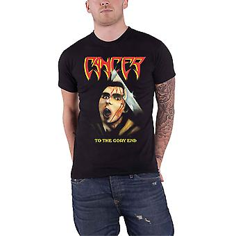 Cancer T Shirt To The Gory End Band Logo Death Metal new Official Mens Black