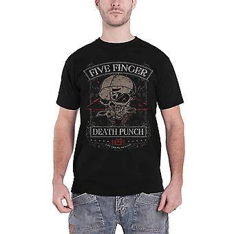Five Finger Death Punch T Shirt Wicked Band Logo new Official Mens Black