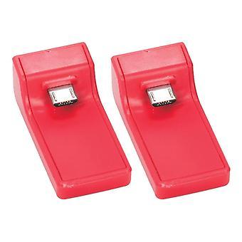 Paquete doble dongle de carga de reemplazo para la estación de acoplamiento venom ps4 - rojo (ps4)