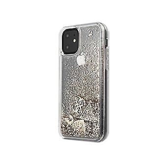 מניח כיסוי קשיח מקרה מגן עבור iPhone של אפל 11 זהב במקרה מקרה לב נצנצים
