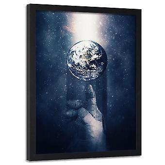 Poster no frame, mundo em suas pontas do dedo 2