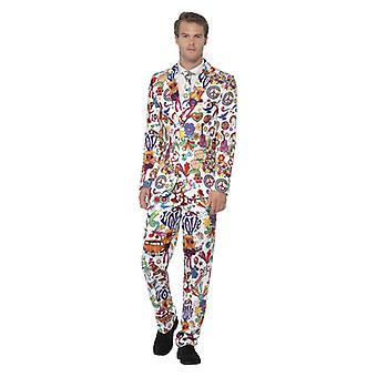 Mens Groovy kostuum Fancy Dress kostuum
