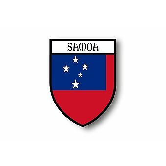 Sticker Adesivauto Moto Auto Blason Città Bandiera Samoa