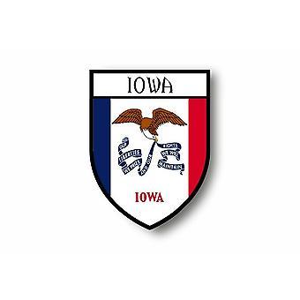 Adesivo Adesivo Adesivo Moto Auto Blason City Bandiera USA Iowa