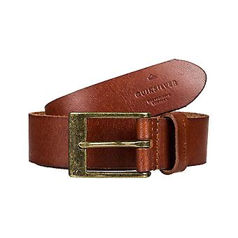 Cintura In pelle Slim Premium Quiksilver in Cioccolato Marrone