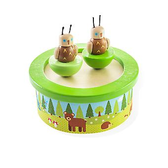 Bigjigs lelut puinen Woodlands Music Box
