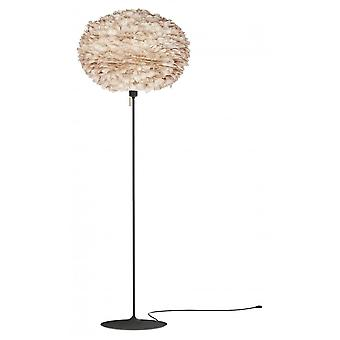 Umage Eos Floor Lamp - Light Brown Feather Eos Large/Black Stand