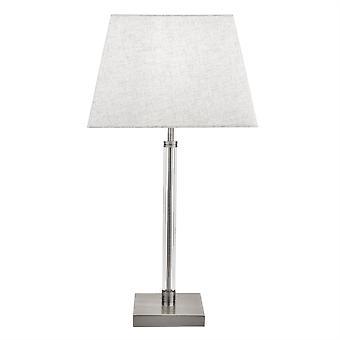 Suchscheinwerfer Siena 1 Leichte Tischleuchte Satin Nickel, Weiß 7731SN