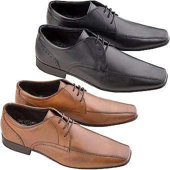Ikon Mens Fraser Formal Smart Casual Leather Stitched Lace Up Brogue Dress Shoes
