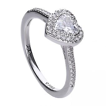 Diamonfire Cubic Zirconia Pave Heart Ring R3659