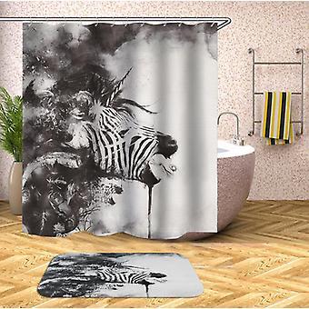 Schwarz & weiß Kunstwerk Zebra Duschvorhang