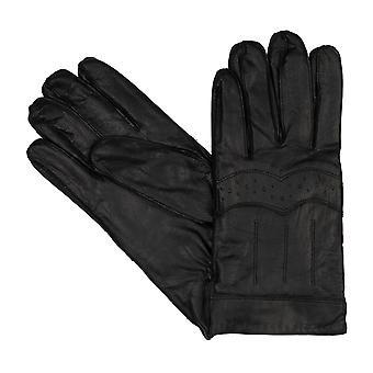 Bugatti mannen handschoenen handschoenen Vintage geit nappa leer zwart 8359