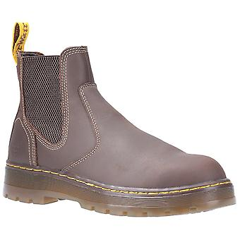 Dr Martens Unisex Eaves SB Elasticated Safety Boot Brown