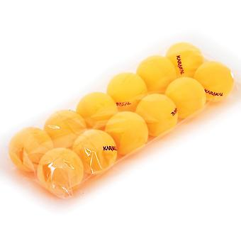 Karakal 12 tafel tennis ballen 1 ster PE starter ballen-oranje