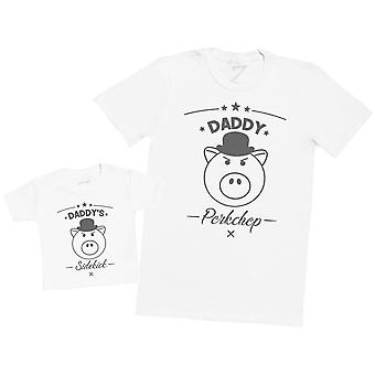Daddy's Sidekick Porkchop - Mens T Shirt & Baby T-Shirt
