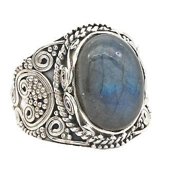 Labradorite ring 925 sølv sterling sølv dame ring (MRI 160-05)