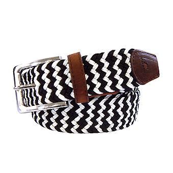 TYLER & TYLER Zig Zag Woven Fabric Belts