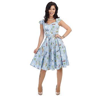 Collectif Vintage Women's Sandra Car Print Swing Dress