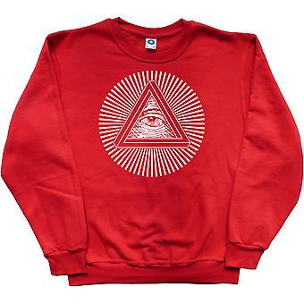 Sweatshirt rouge Illuminati