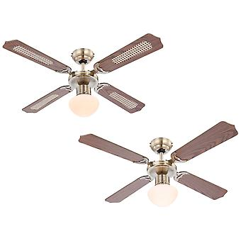 Ceiling fan Champion Brass with light 106cm / 42