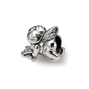925 Sterling Silver Polished Reflections SimStars Kids Cupid Bead Charm Pendant Necklace Jewelry Gifts for Women