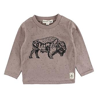 Petit Rags Brown Boys T-Shirt Bison