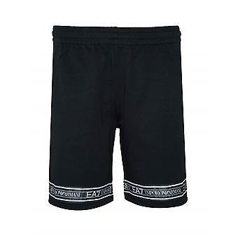 EA7 EA7 Black Tape Logo Cotton Shorts
