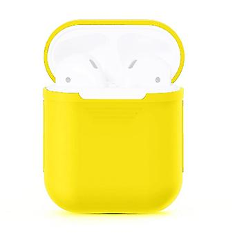 For Apple Airpods Storage Bag Yellow Silicone Protective Box