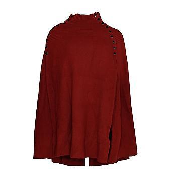G.I.L.I. got it love it Women's Sweater Cape w/ Buttons Burg Red A299529