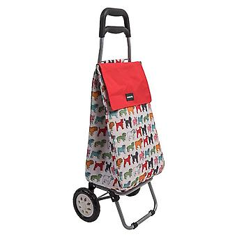 Sabichi Dog Pattern Shopping Trolley