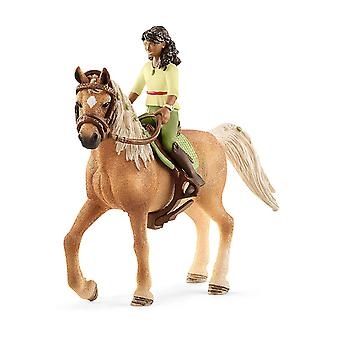 Schleich 42517 Sarah & mysteeri hevonen klubi Figurine
