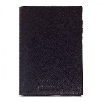 إمبوريو أرماني جواز سفر أسود وحامل البطاقة محفظة PU الجلود البيئية Y4R202 YEW1E