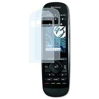 Bruni 2x Screen Protector compatible with Logitech Harmony Touch / Ultimate One Protective Film