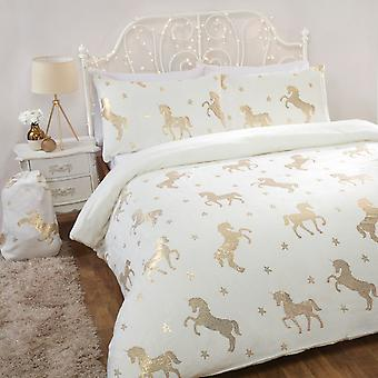 Conjunto de cama de lã de flanela de flanela-de-felada -Marfim-Single