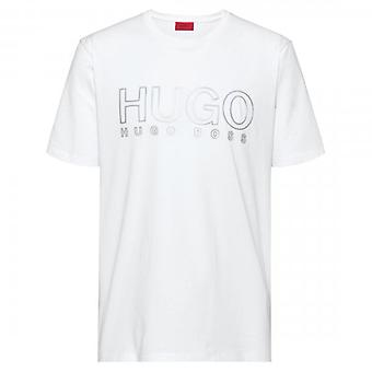HUGO Hugo Boss Dolive-U202 Relective Logo T-Shirt White 50425774