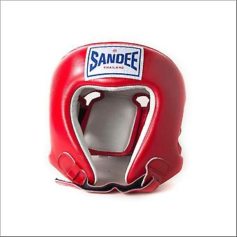 Sandee open face head guard - red