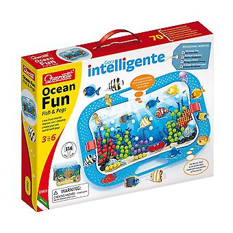 Quercetti Ocean Fun 316PC Pegboard Set STEAM Toy Ages 3-6 Years