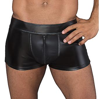 Wetlook Boxer With Zippers