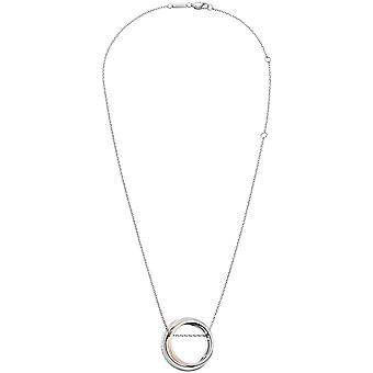 Calvin Klein Unite Silver Stainless Steel Rose Gold Pendant Ladies Necklace Jewellery KJ6APP200100