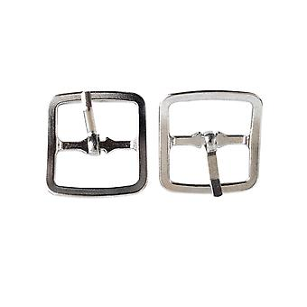 20mm Silver Metal Belt Buckle with One Pin Bar