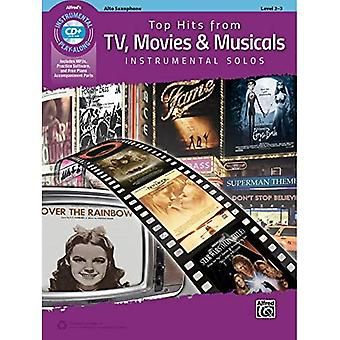 Top Hits aus TV, Filme & Musicals Instrumental Solos: Alt-Saxophon (Buch & CD) (Top Hits Instrumental Solos)