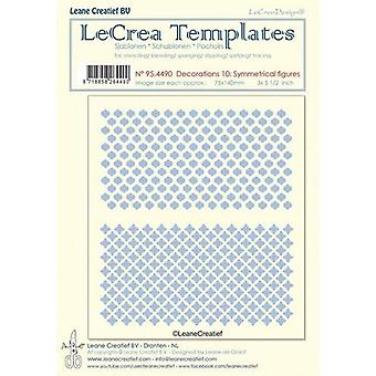 LeCrea - Stencil decorations 10. Symmetrical designs 95.4490 75x140mm