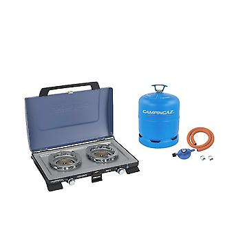 Campingaz Series 400 S Double Burner + Free Campingaz Hose & Regulator Kit and