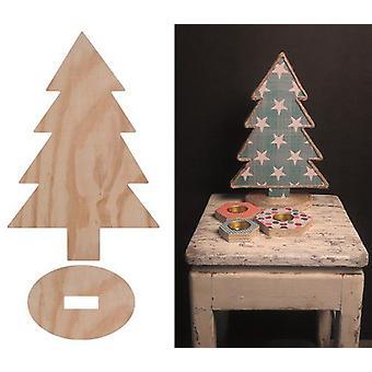 Pronty Deco Wood Kerstboom 422.000.013 231x348x114mm