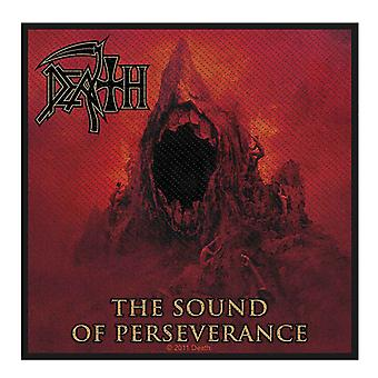 Death Patch Sound Of Perseverance Band Logo Official Woven (10cm x 10cm)