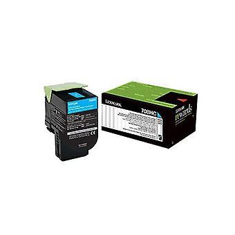 Lexmark 808Xce Cyan Extra High Yield Corporate Toner Cartridge 4K