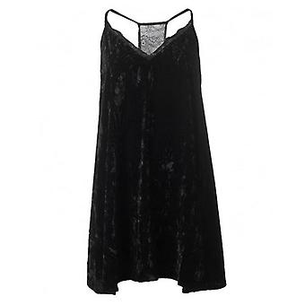 French Connection Velvet Lace Slip Dress