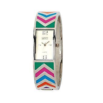 Eton Fashion Bangle Watch with Multi Coloured Chevron Pattern 3153L-ML